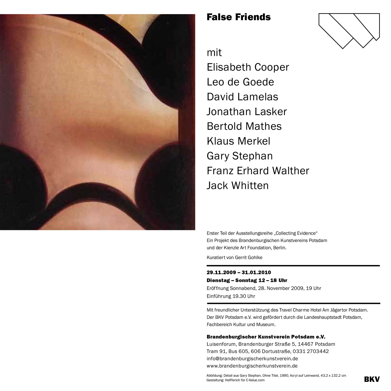 KienzleArtFoundation_Kunstverein-Potsdam-False-Friends_Einladung