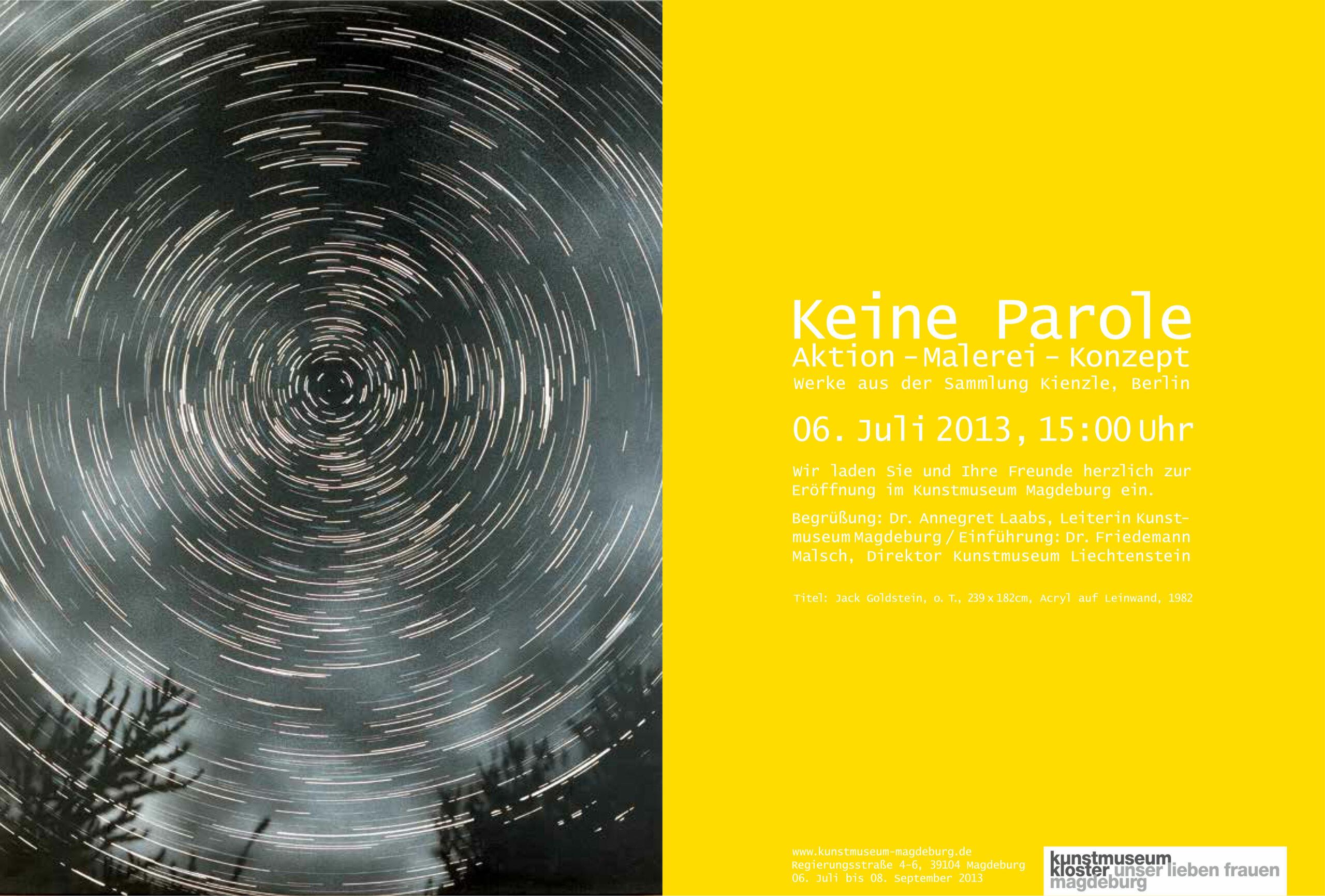 """Kienzle Art Foundation Berlin,  Ausstellungsansicht """"Keine Parole"""", Kunstmuseum Kloster Unser Lieben Frauen Magdeburg"""
