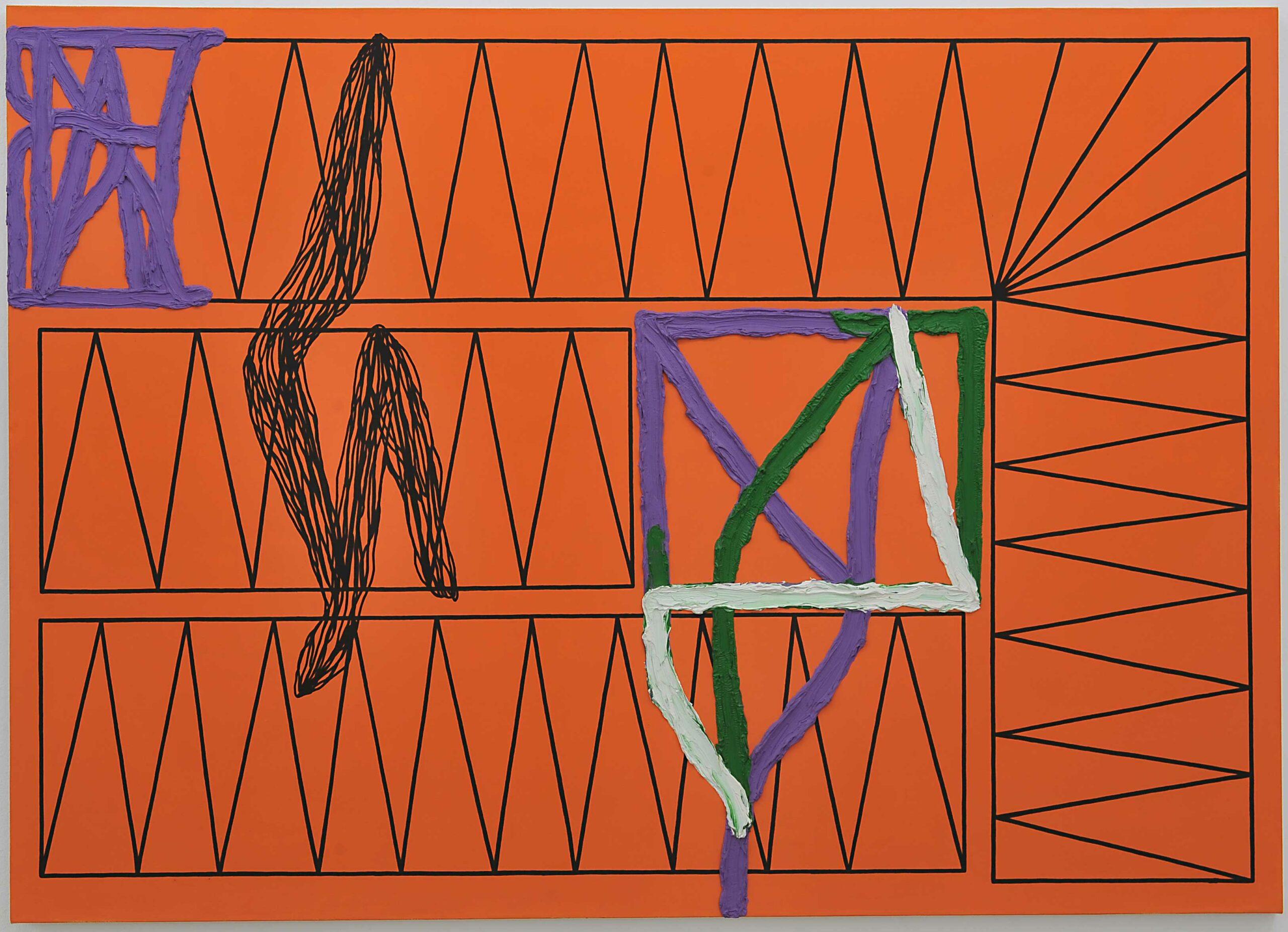 Kienzle Art Foundation Berlin, Painting by Jonathan Lasker, Kienzle Collection
